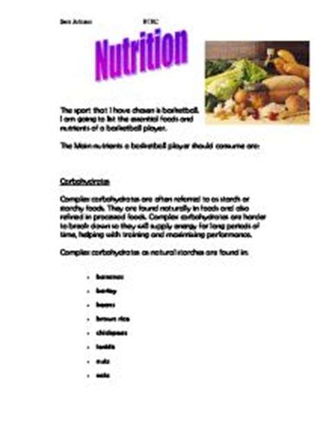 Essay On Nutrition Month Topics Titles  Examples In Essay About Nutrition Month